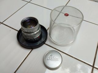 Leica 50mm F2 Summicron M Lens With Bubble Case - -