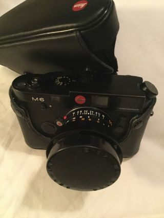 Camera Leica M6 near including summilux lens 1:1 4/50 3