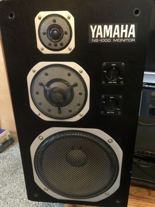 Legendary Yamaha Ns - 1000 Monitor Ns - 1000m Speakers Matched Pair -
