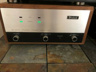 Mcintosh Mc2200 Stereo Power Amplifier -.  99 Starting Price.  Does Not