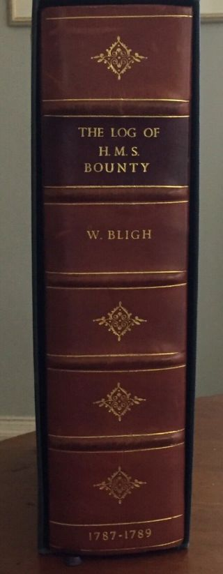 William Bligh,  The Log Of The Hms Bounty,  Facsimile Published In 1975.