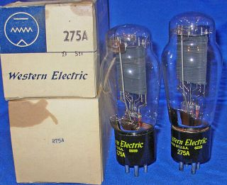 Nos / Nib Matched Pair Western Electric 275a Triode Tubes 1959 /1962 Dates