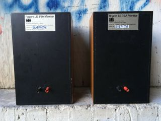 Rogers LS3/5A LOW SERIAL BBC 15 ohm studio monitor speakers 2