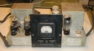 1 - Ish 40s Ipc Theater Am - 1001 Mono 6l6 Tube Amplifier W.  E.  Theater Era