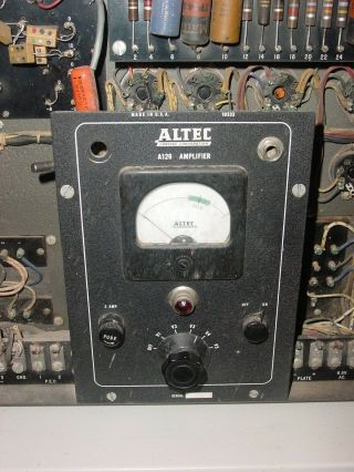 40 ' s ALTEC A126 mono 6L6 Tube AMPLIFIER w.  e.  theater Hollywood amp 2