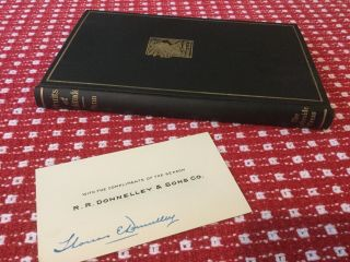 Fruits Of Solitude,  1906 Lakeside Press,  William Penn,  With Signed Printer Card 2