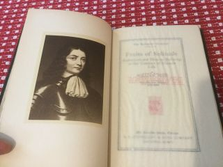 Fruits Of Solitude,  1906 Lakeside Press,  William Penn,  With Signed Printer Card 9