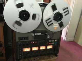 Please Read Teac A - 3440 4 Channel Stereo 10.  5 Inch Reel To Reel Tape Recorder