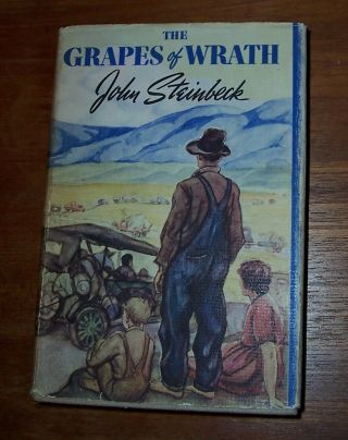 John Steinbeck,  The Grapes Of Wrath,  1st Edition With Dust Jacket :.