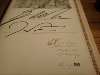 GEORGE RR MARTIN SIGNED LIMITED MATCHING SET 140 PLUS A KNIGHT OF 7 KINGDOMS 10