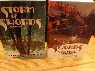 GEORGE RR MARTIN SIGNED LIMITED MATCHING SET 140 PLUS A KNIGHT OF 7 KINGDOMS 5