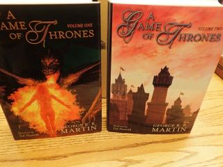 GEORGE RR MARTIN SIGNED LIMITED MATCHING SET 140 PLUS A KNIGHT OF 7 KINGDOMS 9