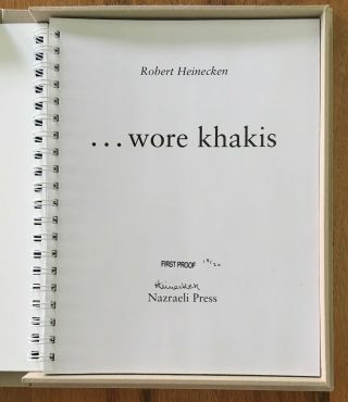 Robert Heinecken: Wore Khakis.  SIGNED LIMITED EDITION Photobook,  only 20 copies 3