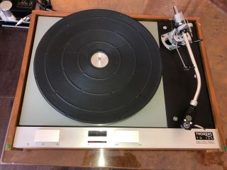 Wow Thorens Td 125 Transcription Turntable W/cover - Top Example Sme 3009 Arm