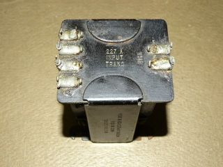 Western Electric Type 227a Input Transformer,  For 25b Tube Amplifier