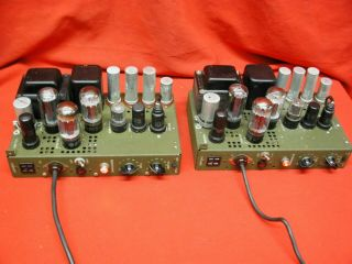 Rca Us Signal Corps 6l6 6sn7 5u4 Tube Theater Amplifiers [pair]