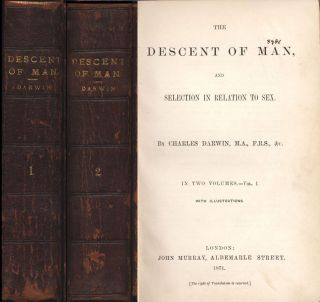 The Descent Of Man Charles Darwin (origin Of Species) Evolution 1st Ed 1871