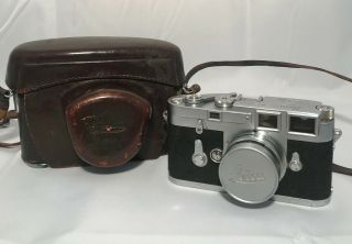 Leica M3 Rangefinder Film Camera W/ Summicron 50mm F2 Lens