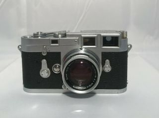 LEICA M3 RANGEFINDER FILM CAMERA W/ SUMMICRON 50MM F2 LENS 2
