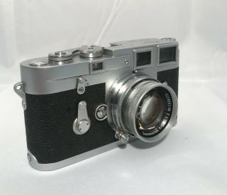LEICA M3 RANGEFINDER FILM CAMERA W/ SUMMICRON 50MM F2 LENS 4