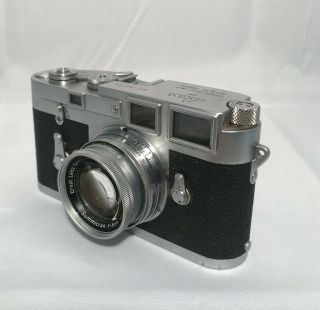 LEICA M3 RANGEFINDER FILM CAMERA W/ SUMMICRON 50MM F2 LENS 8