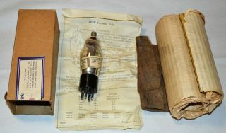 (1) Nos Western Electric 262b Engraved Base Fore 86c Tube Amp