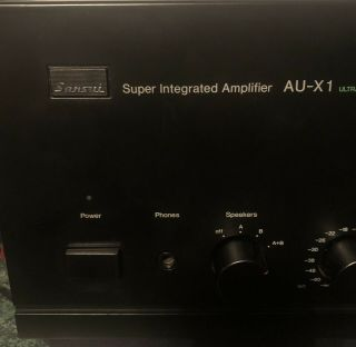 Sansui Au - X1 And TU - X1 Tuner With Am Stereo Decoder 4
