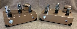 2 Mono Single - Ended 45 Tube Audio Amplifiers W/ Tamura Tango Output Transformers