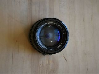 Vintage Canon Fd 50mm 1:1.  4 Lens For Canon Slr Camera Serial 742430