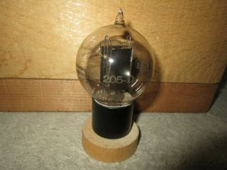 (1) Strong Test Western Electric 205d Engraved Base Triode Audio Tube