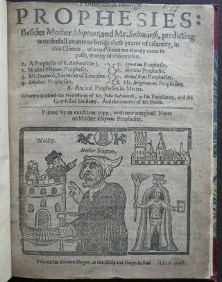 MOTHER SHIPTON 1648 STRANGE PROPHESIES Soothsayer LIFE DEATH 1687 PREDICTION 3