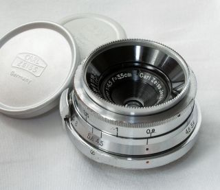 Zeiss Orthometar 35mm/4.  5 For Contax Ii And Iii,  With Caps - Scarce