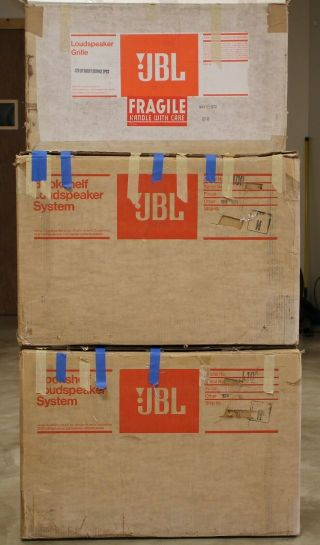 Early Jbl L100 Century Loudspeakers In Boxes