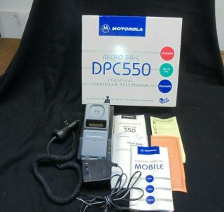 Motorola Micro T - A - C Dpc550 Cellular Telephone With Accessories & Instructions