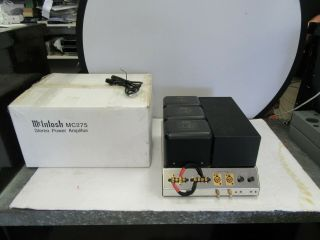Mcintosh MC 275 MK IIII Tubed Stereo Power Amplifier With Box 12