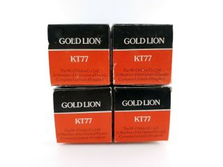 4 X Kt77 Gold Lion 1970´s.  00getter,  Nos/nib,  Matched Quad C18 Enair
