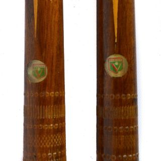 2 Vintage Vaula Torina Pool Stick Cue Billiards Italy One - Piece