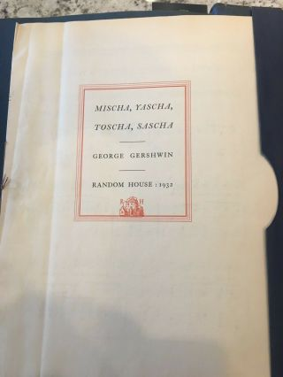 George Gershwin ' s Song - Book,  Signed First Edition 5