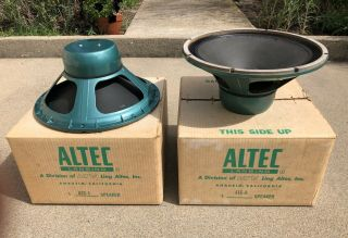 "Altec Lansing 416a 16 Ohm Woofers (pair) Vott Speakers 15 "" With Boxes"