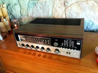 Fisher 800t 800 - T Receiver W/ Wood Case - And Rk - 30 Remote