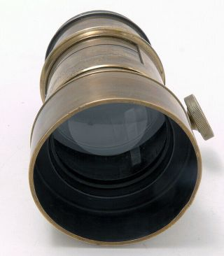 Dallmeyer 2 B Patent Large Brass Lens With An Interesting Peculiarity.