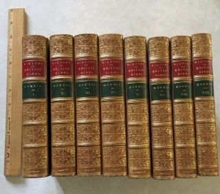 A History Of British Birds,  Morris,  8 Volumes