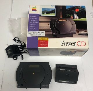 Apple Power Cd Vintage 1993 Rare Box Stand Adapter (no Remote)