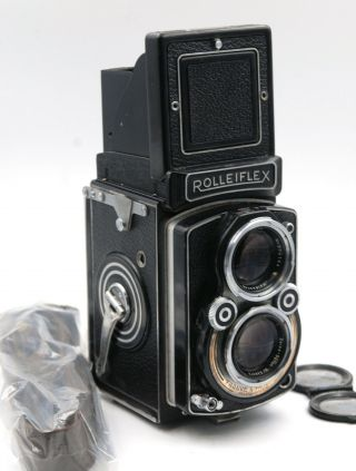 Rolleiflex 2.  8a Type 1 W/ Zeiss Opton Tessar 2.  8/80mm,  Shoulder Strap And Cap
