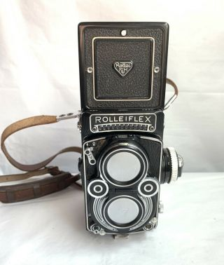 Rolleiflex 3.  5 F Type I Tlr Camera W/ Xenotar Lens 2203056 (serviced By Pro)
