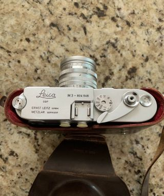 Leica M3 Camera W/ 50mm Leica 5cm Lens,  Case,  Expose Meter,  All Manuals