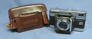 Voigtlander Vitessa 35mm Folding Rangefinder Camera W/ultron 50mm F2 Lens & Case