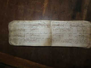 1785 Manuscript Autograph And Music Book With Wooden Covers Edward Morris Wales