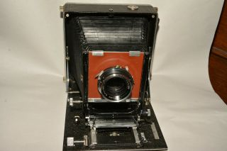Linhof Technika 5x7 (13x18 Cm) Early Model,  3035,  1936.  With Symmar Lens.