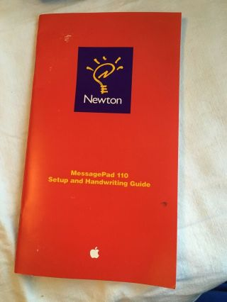 RARE - CLEAR Apple Newton MessagePad 110 -,  Charger,  Invoice and More 9